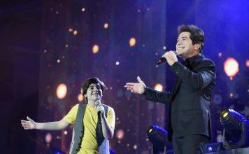 Guilherme Martinez em participação especial no show do cantor Daniel (Foto: Divulgação)