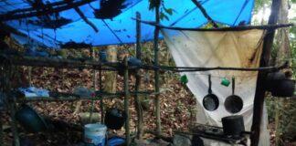 Rancho de caçadores encontrado na Lagoa Azul