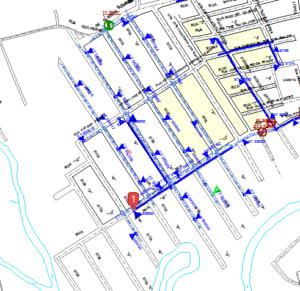 Mapa da área onde a EDP fará as ligaçõs residenciais