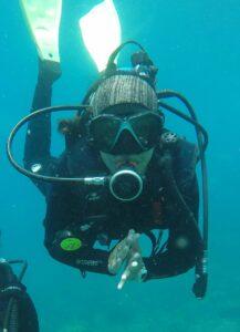 Mergulhando em Ilhabela (Foto: Arquivo pessoal)