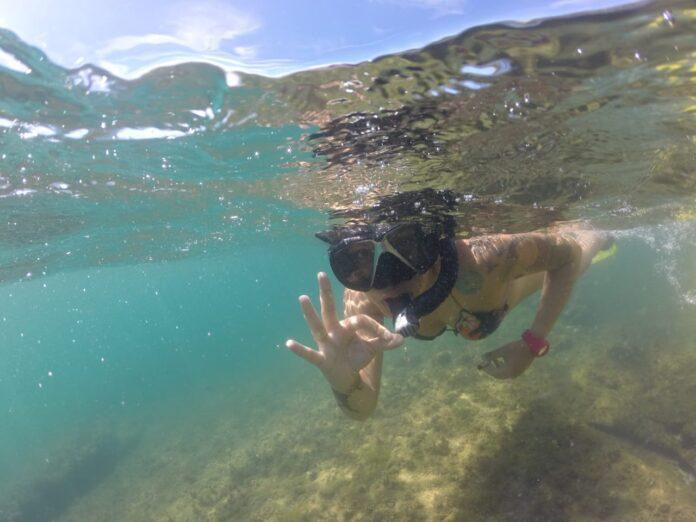 Mergulho no mar de ilhabela