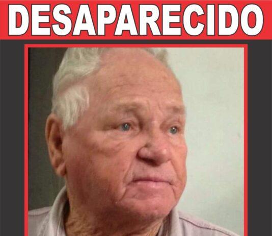 Lauristano, idoso de 86 anos desapareceu domingo (28)