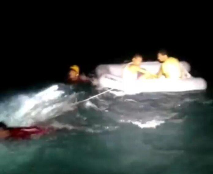 Turistas são resgatados em Ubatuba (Imagem: GBMar)