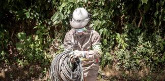 Vizinhos são suspeitos de furtar energia e 500 m de cabos foram aprendidos (Imagem: Polícia Ambiental)