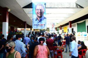 Convenção da coligação que confirmou a candidatura de Aguilar Junior