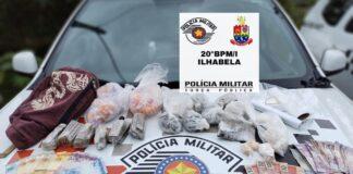 880 porções de drogas apreendidas em Ilhabela