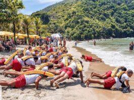 GVTs que vão trabalhar em Caraguatatuba na temporada de verão participam de treinamento (Foto: GBMar/Divulgação)
