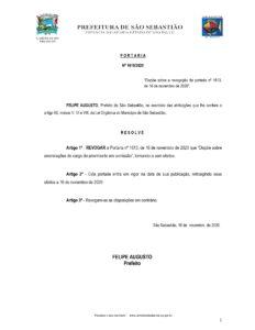 Comissionados foram exonerados no dia 16 de novembro; novo documento retroage à mesma data