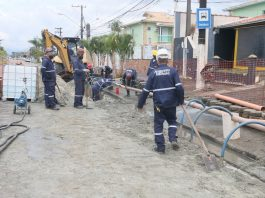 Obra da Sabesp teve início na região Sul (Foto Sabesp/Divulgação)