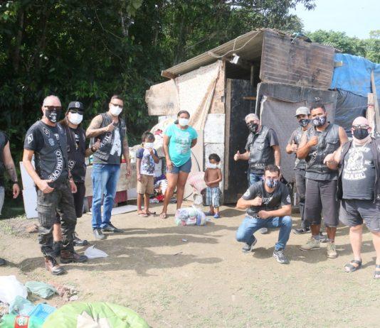 Integrantes do motoclube em ação (Foto: Divulgação)