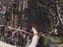 Área circulada mostra avanço da obra em manguezal (Foto: MPF/Divulgação)